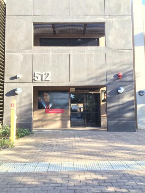 Entrance through Murdoch Business Building (north side)